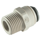JG STRAIGHT ADAPTOR BSPT Thread - 3/16 x 1/4 BSPT